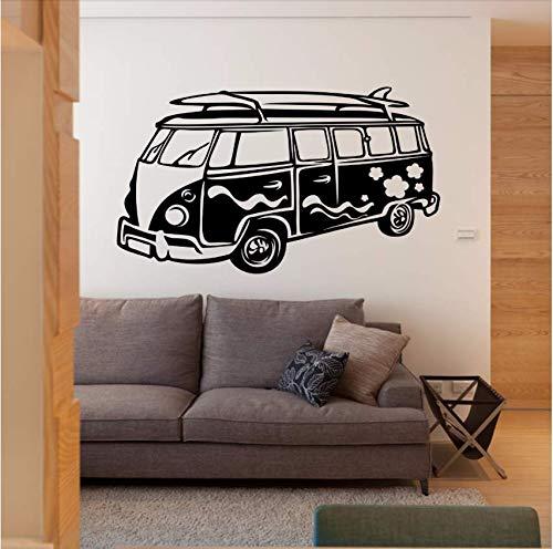 limicry Abnehmbare Wandaufkleber Camper Wandtattoo Reisen Bus Wandkunst Wandhaupt Wohnzimmer Tapete Vinyl Auto Aufkleber Dekor @ 72X42 cm