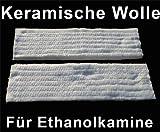 2 x Keramikschwamm 30x10x1,3cm - zum Einsatz in Ethanol-Brennkammern- 2 oggetti: Lana di vetro per bio camino- 2 x Ceramic foam 30x10x1, 3cm - for use in ethanol combustion chambers