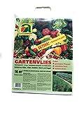 Paño grueso y suave del jardín | 10m x 1.6m | Calidad profesional | 19g / m2 | especialmente a prueba de roturas | Estabilizado a los rayos UV | incluida la porción de semilla gratis