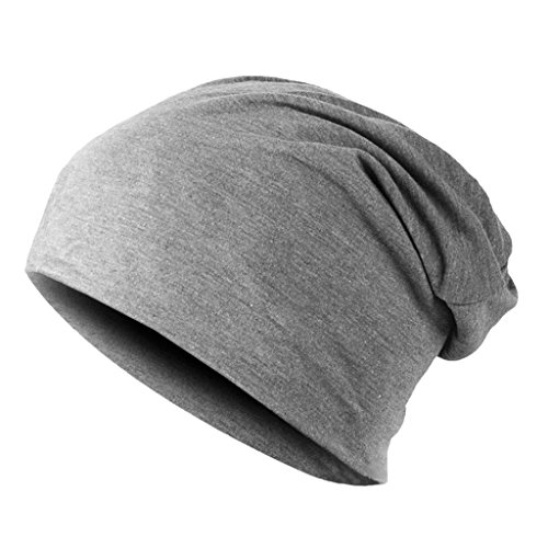 ea0c38639ee 365-Shopping Unisex Mens Womens Grey Jersey Beanie Spring Cap Summer Cap  Long Thin Beanies Slouch Hats - Buy Online in Oman.