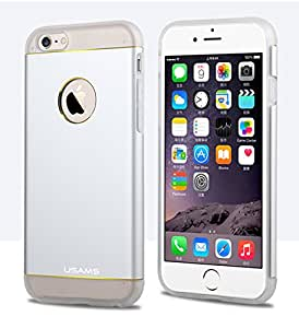 Apple iPhone 6 USAMS Noble Series Aluminium+TPU Back Cover Case - Silver