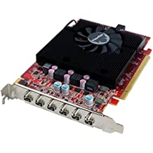 Visiontek Radeon 7750Grafikkarte 2GB GDDR56m (6x miniDP, 6x miniDP zu HDMI Adapter) Grafikkarte–900880