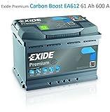 Exide Premium Carbon Boost EA612 61Ah Autobatterie (Neuestes Modell 2014/15)