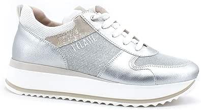 Alviero Martini 1a classe Sneaker Running Donna Geo Glitter Silver N0615-0525