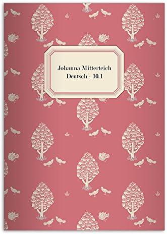 32 Vintage cahiers personnalisés en style retro, motif: Central Park, Park, Park, rouge, A4 (29,7 x 21; 32p) Vintage cahiers de maths, linéatur 29 (carreaux 5x9mm; avec bord des deux côtés) | Caracteristique  c96d41