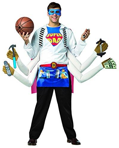 Kostüm Super Dad - Rasta Imposta 6148 Mehrfarbiges Kostüm für Herren Super Dad (Einheitsgröße)