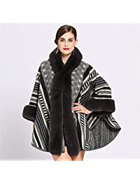 Avvolgere la Sciarpa Cappotto del Poncho del Capo delle Donne Pelliccia del  Faux Pelliccia Pounch Mantello dell involucro dello Scialle per… 0db8d21fa41