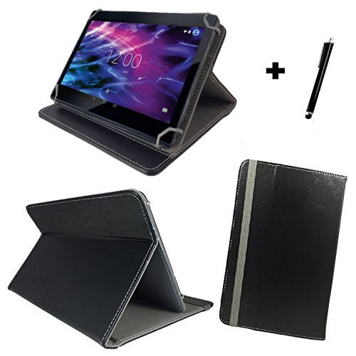 Tablet Tasche für Blaupunkt Discovery 111c / 108c Schutz Hülle Etui Case + Touch Pen - 10.1 Zoll Schwarz