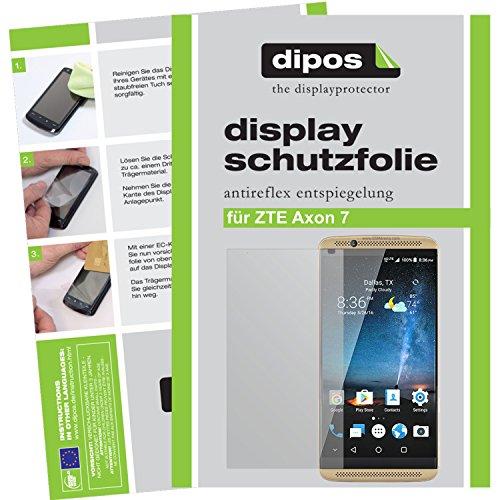 dipos I 6X Schutzfolie matt passend für ZTE Axon 7 Folie Bildschirmschutzfolie