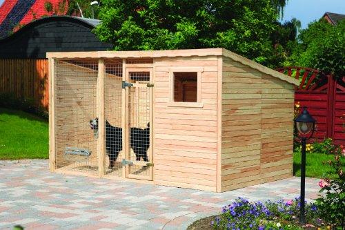 Promadino Hundezwinger XXL mit Pultdach + Fußboden ca. 10,5 m2