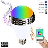 Miric Lampadina Smart Bulb Music Colore LED Lampada Intelligente E27/E26 Altoparlante Bluetooth 4.0, RGBW Multicolore Light, Mini Audio Speaker, Disponibile Su iPhone, iPad, Dispositivi Android eTable