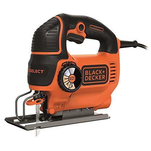 Black+decker ks801se-qs seghetto alternativo autoselect ad azione pendolare in cartone + 1 lama, orange/noir, 550w