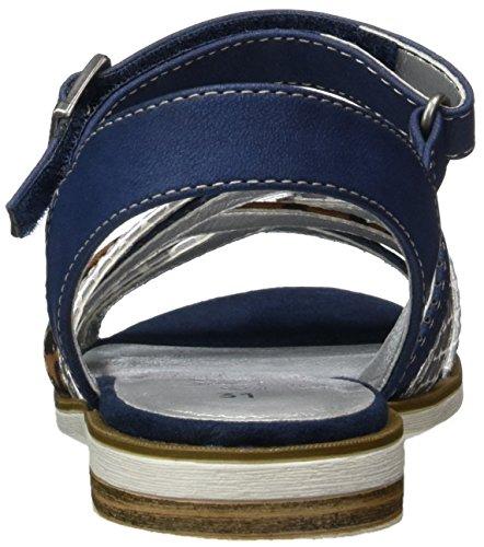 s.Oliver 48208, Sandales Bout Ouvert Fille Bleu (NAVY 805)