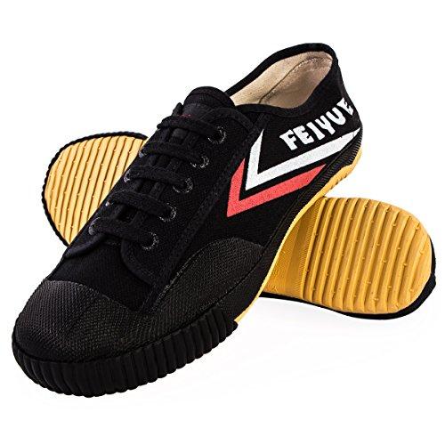 Wu Designs Feiyue– scarpeminimalper arti marziali,Wushu, nero, 37 EU