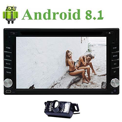 EINCAR Freie Back-up-Kamera Android 8.1 Auto-Radio 6.2 Zoll HD Bildschirm-Auto-Stereo Double 2 Din im Schlag-Auto-DVD-CD-Spieler GPS-Navigation Head Unit FM/AM RDS-Radio Bluetooth/WLAN/TF- (Handy-back-up-kamera)