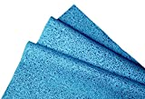 #10: Kimtech Lint free Multipurpose Glass Cleaning Cloth, Reusable, Medium Size,23.7 x 25.4 cm, Pack of 25, Blue, 60021 by Kimberly-Clark