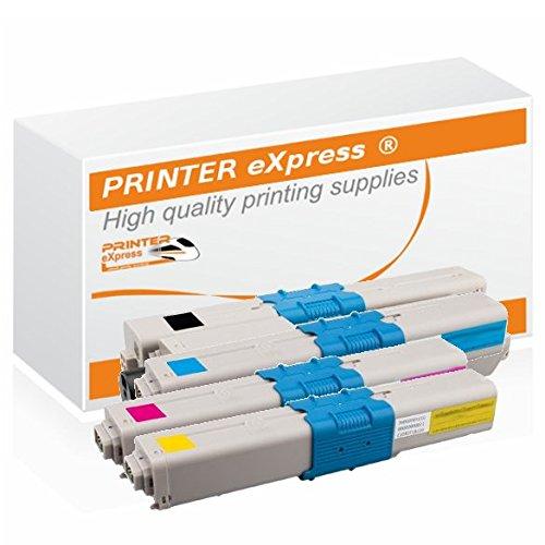 Printer-eXpress Toner 4er Set ersetzt Oki 46508712, 46508711, 46508710, 46508709 für Oki C332, C332DN, MC363, MC363DN, MC363N | C 332, C 332DN, MC 363, MC 363DN, MC 363N Drucker -