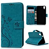 MAXFE.CO Lederhülle Leder Tasche Case Cover für HTC