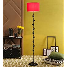 Red Drum Cotton Leaf Floor Lamp /Standing Lamp By New Era For Living Room /Drawing Room/Office/Bedroom/Decoration /Corner/Gift/Lobby