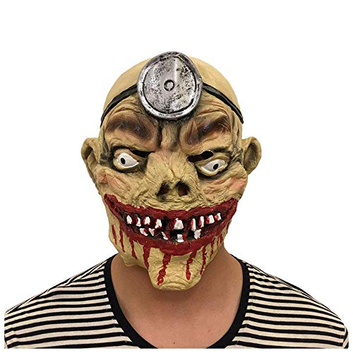 ombie Mumien Maske Smashing Scary Horror Grubenlampe Geist Latex Perücke Cosplay Film Requisiten Halloween ()