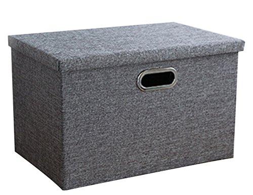 THEE Aufbewahrungsbox Stoffkiste Ablagebox Schlafzimmer Accessoire-Organizer Aufbewahrungskasten mit Deckel