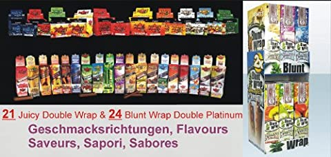 Blunt Wrap Platinum und Juicy Blunts Double gemischt - 50