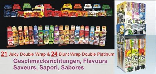 Blunt wrap platinum double wrap/juicy double 50X (total de 100 points de de vous. 45 nos différentes geschmacksvarianten votre propre wunschpaket ce service n'existe pas de elmarspalace !