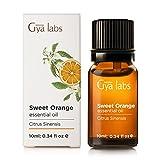 Süße Orange (Brasilien) - 100% Pure, unverdünnt, Bio, Natur & Therapeutische Grade ätherisches Öl für Aromatherapie Diffusor, Gesundheit Haut Raum und Entspannung 10 ml - Gya Labs
