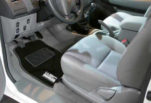 WRC 007434 4 Tapis de voiture Moquette Noirs