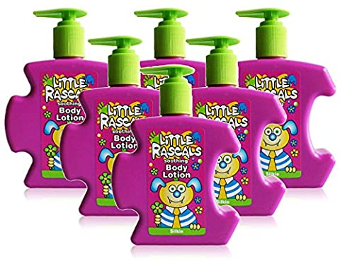 6x Little Rascals Kids Body Lotion Soothing Childrens Silkie