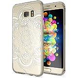 Samsung Galaxy S7 Edge Coque Protection de NICA, Housse Motif Silicone Portable Premium Case Cover Transparente, Ultra-Fine Souple Gel Slim Bumper Etui pour S7-Edge, Designs:Pattern Flowers