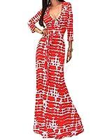 Etosell Femme Col V Longue De Robe S-XL