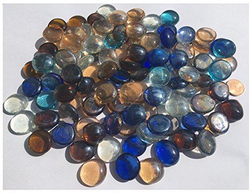 mezcla multicolor cristal piedras Nuggets 2cm 500g-Bolas plano Cristal bolitas de cristal...