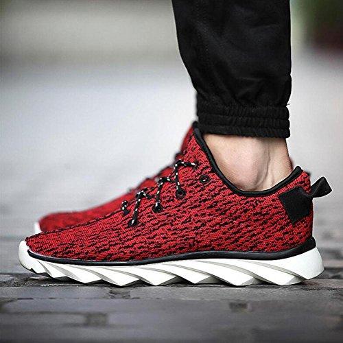 Sneaker a rete in lana di mens drago scarpe sportive di primavera / autunno traspirante confortevole e antiscivolo Red