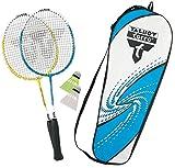 Talbot-Torro Badminton-Set 2-Attacker Junior, 2 verkürzte Schläger 53cm, 2 Federbälle, in wertiger Tasche, Kinder Federballset, 449510