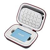 Custodia Rigida per Samsung T5 / T3 / T1 Portatile 250 GB 500 GB 1 TB 2 TB SSD USB 3.0 unità a Stato Solido Esterna, Borsa per Il Trasporto - Nero (Fodera Grigia)