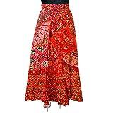 Khushi Print Womens Cotton Wrap Around Western Wear Skirts