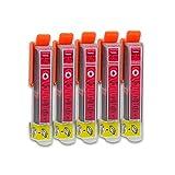 5 Druckerpatronen kompatibel zu Epson 26-XL T2633 (Magenta) passend für Epson Expression Premium XP-510 XP-520 XP-600 XP-605 XP-610 XP-615 XP-620 XP-625 XP-700 XP-710 XP-720 XP-800 XP-810 XP-820