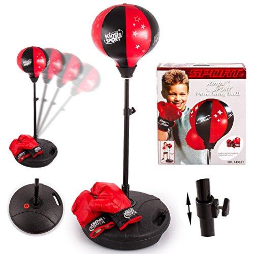 Standboxsack KP2119 Verstellbar Boxbirne mit Boxhandschuhe Spielzeuge Punch Ball