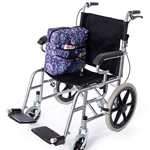 51W74e2sQwL - Bolsa de almacenamiento para silla de ruedas TUYU, mochila universal Mobility Scooter, bolsillo lateral para silla de ruedas resistente al agua, para discapacitados (púrpura)