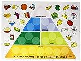 Pirámide de alimentos HenBea Juego mural interactivo para clasificar los alimentos según su grupo alimenticio ayudando así a los niños a conocer las proporciones que componen una dieta equilibrada y a distinguir los tipos básicos de nutrientes: hidra...