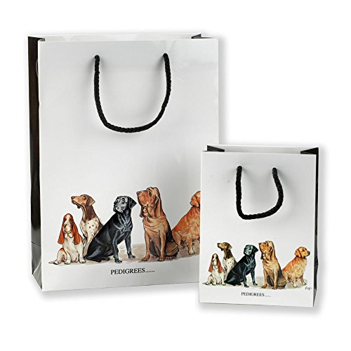 2-fun-dog-design-gift-bags-pedigrees-and-chum-by-bryn-parry-medium-and-small-size