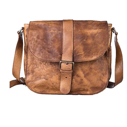 DJB/Leder Herren Schultertasche/Bag/Mini Solid Farbe Retro Herren/Freizeit/Herren Messenger Taschen Braun