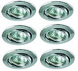 Led Einbauleuchten Set Einbaulampen 6x3W chrom glänzend 100mm warmweiss schwenkbar Angebot Neu
