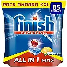 Finish Todo en 1 Max Limón Pastillas para Lavavajillas - 85 Unidades