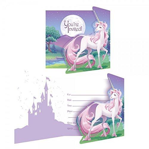 8-Einladungskarten-Mein-magisches-Einhorn