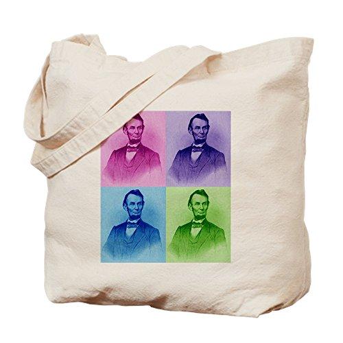 CafePress President Abe Lincoln Tragetasche, Canvas, Khaki, M