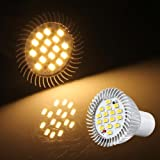Ecloud Shop® 10 GU10 5W 16 5630 SMD LED Lampe Spot High Power Strahler Warmweiß 3500K 550LM