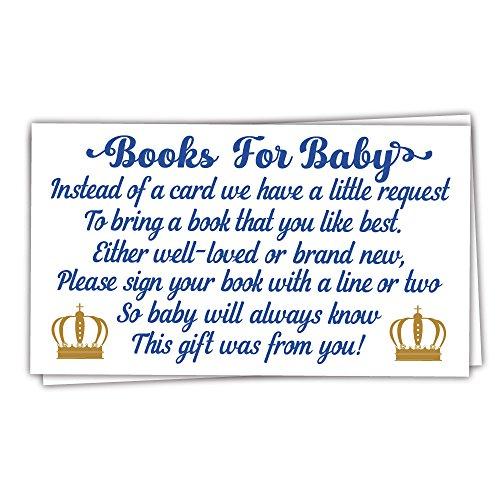 M & H lädt 50Prince Bücher für Baby Dusche Anfrage Karten–Einladung fügt–Boy Baby Dusche
