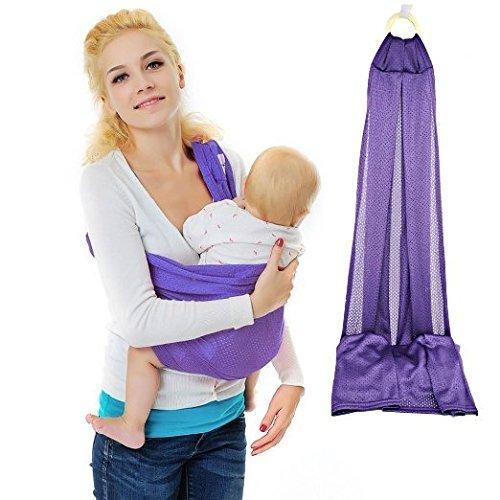 fa1d4d22689b Vine Baby Bébé Echarpe de Portage Stretchy Wrap naturel Transporteur pourpre